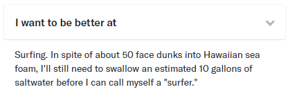 I want to be better at OkCupid example