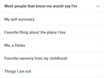 OkCupid Profile Questions