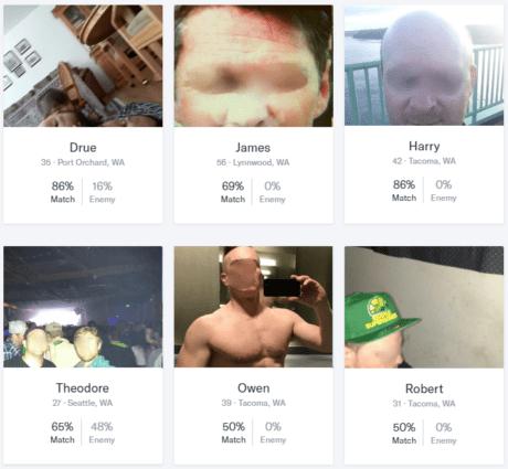 OkCupid matches