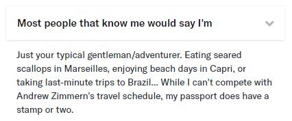 good OkCupid profile example
