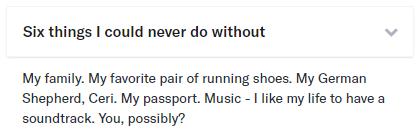 six things OkCupid example