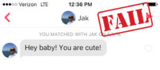 Tinder opener that doesn't work