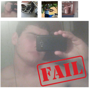 bad online dating photo examples