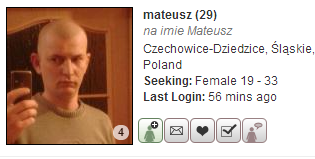 Bad example of search result profile on Russian Cupid.