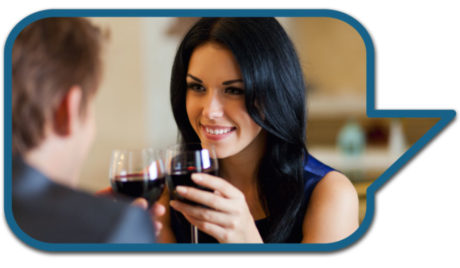 Man On Date With Attractive Woman