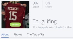 Online dating profile username thuglifting