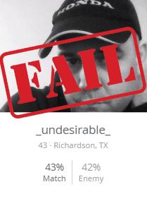 bad username example