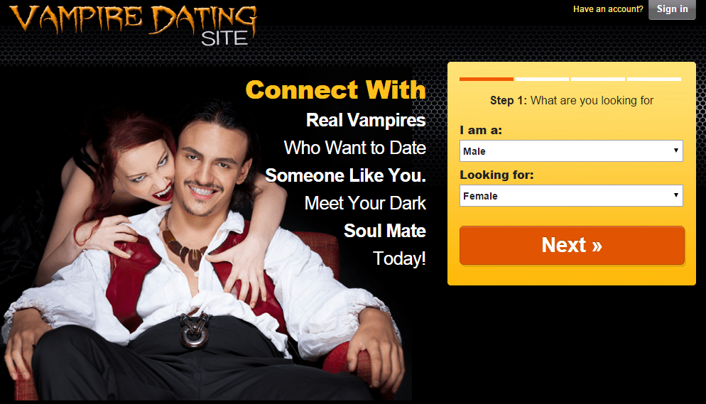 Dating-Websites für Vampire