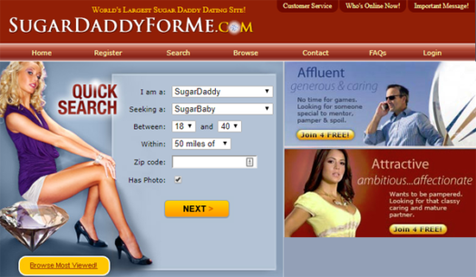 free dating sites for sugar daddy