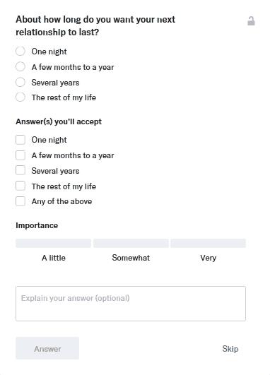 OkCupid Match Questions