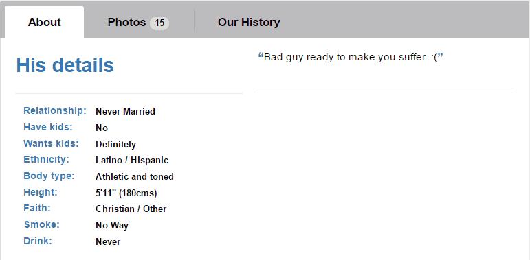 match profile details