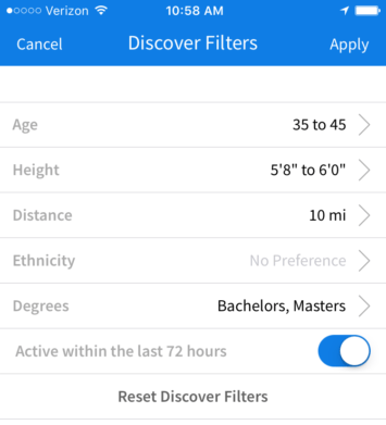 CMB discover filters