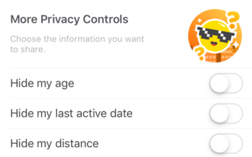 Happn privacy controls