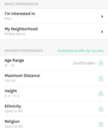 free hinge match criteria