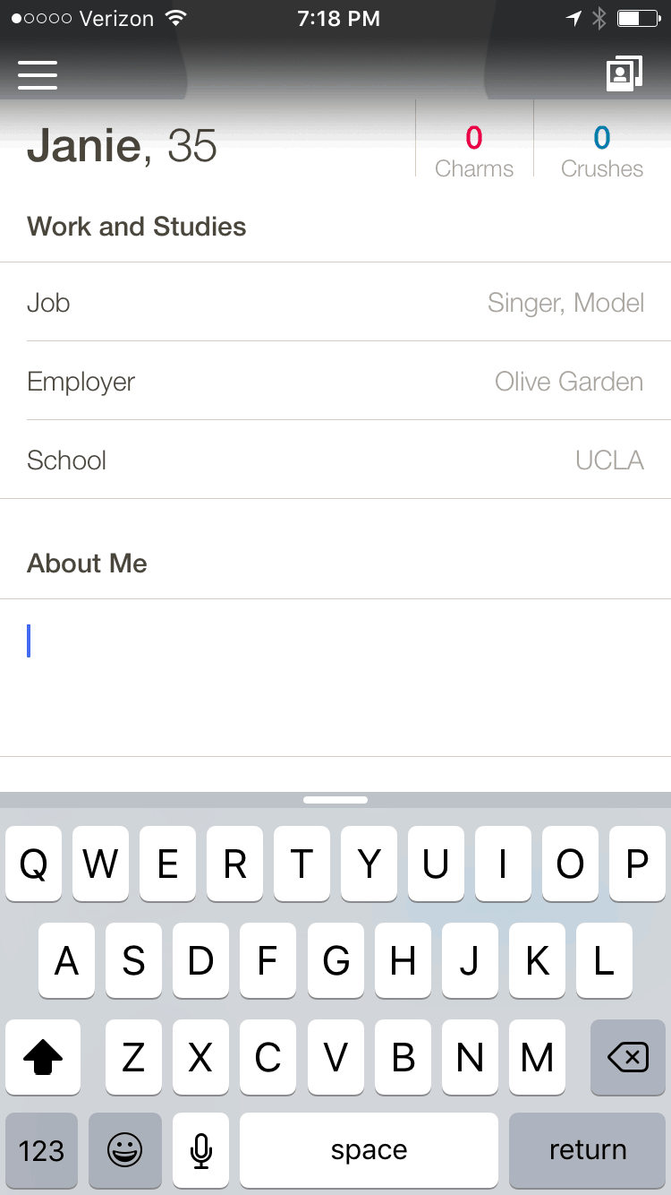 Happn app account set up
