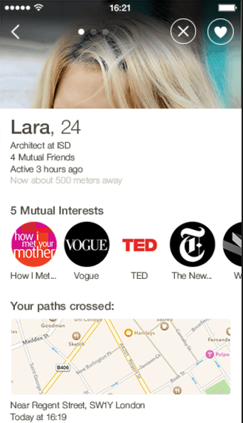 Happn app Review screenshot