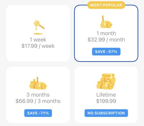 Bumble Premium Cost