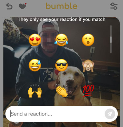 how to send a Bumble Reaction