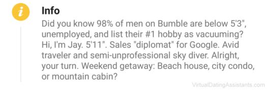 funny bumble bio