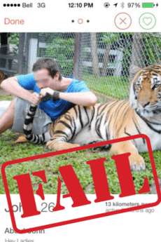 Tinder guys with tigers