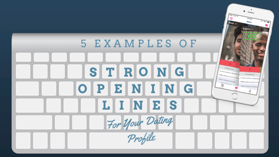 Examples of opening lines for hookup sites