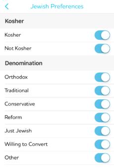 JSwipe Jewish preferences