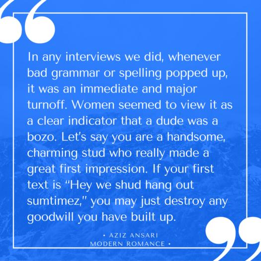 dating advice from Aziz Ansari