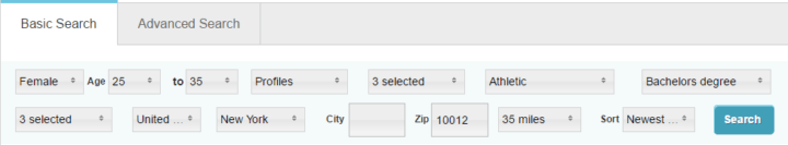pof basic search features