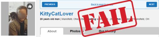 cat lover username fail