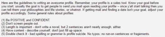 pof forum good profile advice
