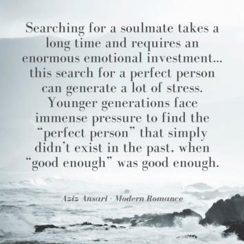 Aziz Ansari modern romance quote