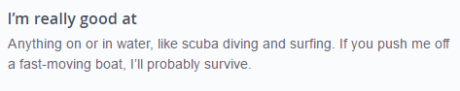 okcupid profile example with alpha male traits