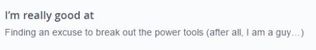 alpha male OkCupid profile example