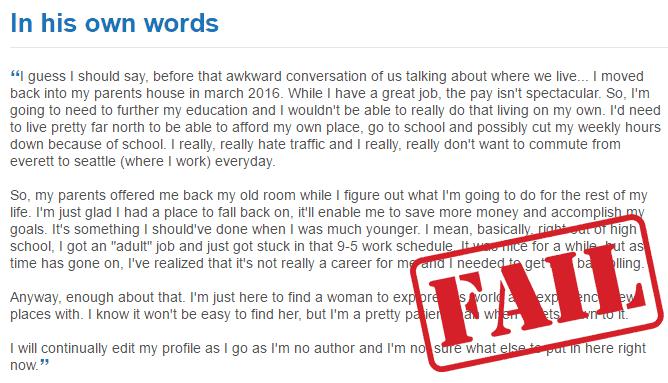 writing good dating profile