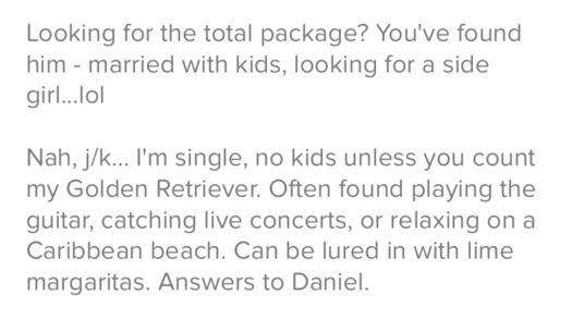 5 Examples Of Funny Tinder Bios For Men