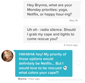 what to say if she doesn't respond on tinder