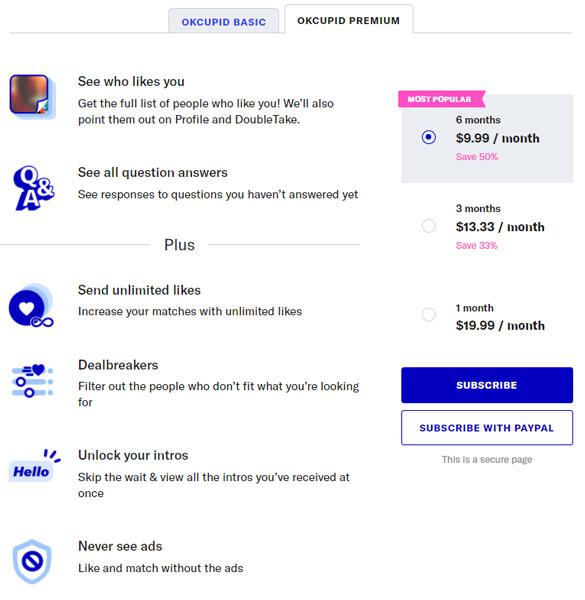 OkCupid Premium