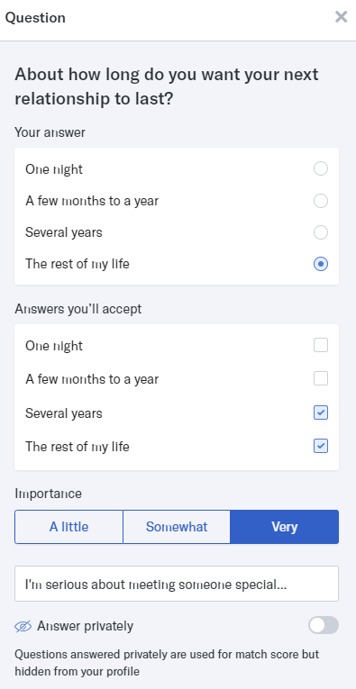 OkCupid question
