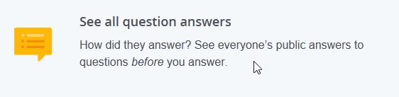 see question answers on OkCupid