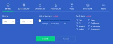 okcupid search criteria