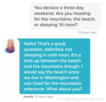 dating site conversation starter