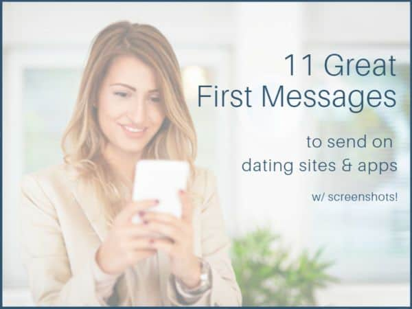 Online dating when message