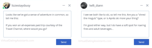Example of a first message online dating