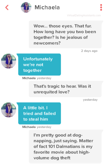 Online dating first message example