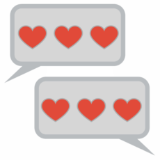 texting hearts