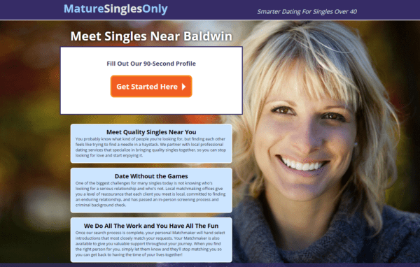 How much does mature singles only cost
