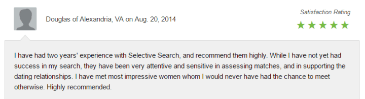 Selective search dating reviews