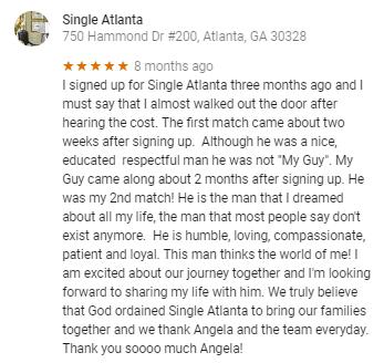 Atlanta matchmaking reviews