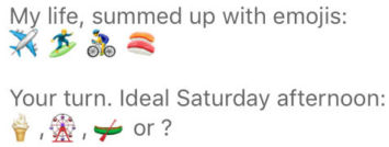 bumble profile example with emoji