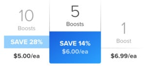 Tinder Boost cost